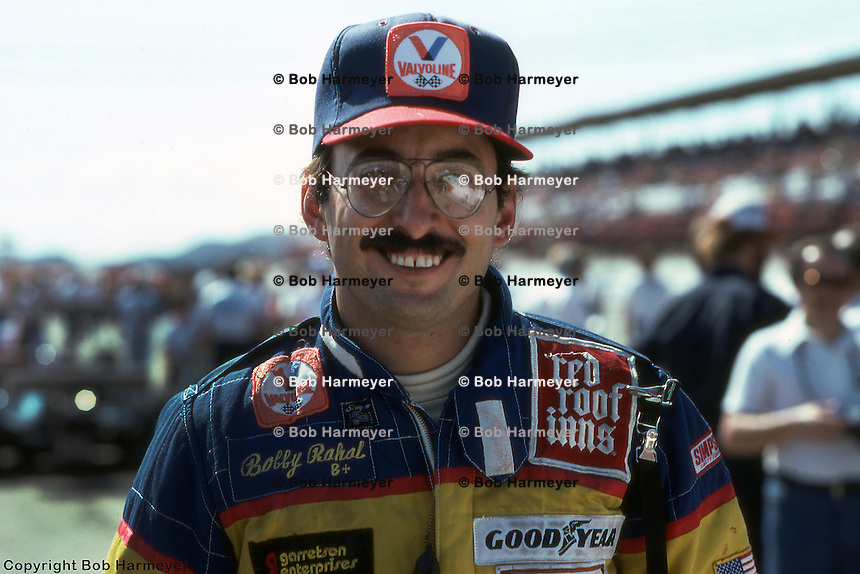 PHOENIX, AZ - MARCH 28: Bobby Rahal in the pit lane during practice for his first IndyCar race on March 28, 1982, at Phoenix International Raceway near Phoenix, Arizona.