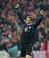 FUSSBALL   CHAMPIONS LEAGUE  HALBFFINAL HINSPIEL   2011/2012      FC Bayern Muenchen - Real Madrid          17.04.2012 Torwart Manuel Neuer (FC Bayern Muenchen)