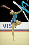 Olympic Test Event  Gymnastics. O2 Arena London England. 18.1.12. Rhythmic Competition.Alexandra.PISCUPESCU OF rOMANIA