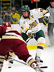 18 October 2009: University of Vermont Catamount defenseman Kevan Miller, a Junior from Los Angeles, CA, in action during the first period against the Boston College Eagles at Gutterson Fieldhouse in Burlington, Vermont. The Catamounts defeated the Eagles 4-1 to open Vermont's America East hockey season. Mandatory Credit: Ed Wolfstein Photo