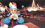 TORRINGTON, CT 12/31/98--1231DC01.tif  Five year old Tyler Propfe of Torrington enjoys a hot dog on Main Street during The First Night Festival 31 Dec in Torrington. First Night is a series of events celebrating the New Year.-DOUG COLLIER staff photo (Filed in Scans/Scan-In)