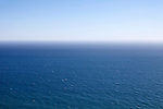 Blue seascape of the Pacific Ocean in Malibu, California, USA