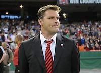 DC United Head Coach Curt Onalfo. New England Revolution defeated DC United 2-0,  at  RFK Stadium, Saturday April 3, 2010.