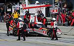Monterey California, May 4, 2014, Laguna Seca Monterey Grand Prix, DeltaWIng car in pits during race.