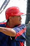 25 February 2007: Washington Nationals infielder Ronnie Belliard takes his turn in the batting cage during practice drills at their spring training facility in Viera, Florida.<br /> <br /> Mandatory Photo Credit: Ed Wolfstein Photo