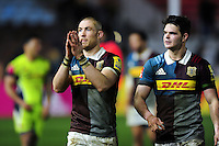 Mike Brown of Harlequins acknowleges the crowd after the match. Aviva Premiership match, between Harlequins and Sale Sharks on January 7, 2017 at the Twickenham Stoop in London, England. Photo by: Patrick Khachfe / JMP
