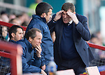 Ross County v St Johnstone&hellip;..30.04.16  Global Energy Stadium, Dingwall<br />Tommy Wright reacts to a bad decision by ref Stephen Finnie<br />Picture by Graeme Hart.<br />Copyright Perthshire Picture Agency<br />Tel: 01738 623350  Mobile: 07990 594431