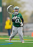 21 April 2012: Binghamton University Bearcat goalkeeper Kara Pafumi, a Freshman from Fulton, NY, in action against the University of Vermont Catamounts at Virtue Field in Burlington, Vermont. The Lady cats defeated the visiting Lady Bearcats 12-7. Mandatory Credit: Ed Wolfstein Photo
