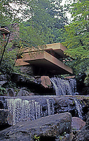 F.L. Wright: Fallingwater. (From below spillway)   Photo '76.