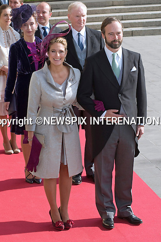 "COUNT AND COUNTESS CHRISTIAN DE LANNOY OF LUXEMBOURG.Religious Wedding Ceremony of HRH the Hereditary Grand Duke and Countess Stéphanie de Lannoy at Cathedral of Our lady of Luxembourg, Luxembourg_20-10-2012.Mandatory credit photo: ©Dias/NEWSPIX INTERNATIONAL..(Failure to credit will incur a surcharge of 100% of reproduction fees)..                **ALL FEES PAYABLE TO: ""NEWSPIX INTERNATIONAL""**..IMMEDIATE CONFIRMATION OF USAGE REQUIRED:.Newspix International, 31 Chinnery Hill, Bishop's Stortford, ENGLAND CM23 3PS.Tel:+441279 324672  ; Fax: +441279656877.Mobile:  07775681153.e-mail: info@newspixinternational.co.uk"