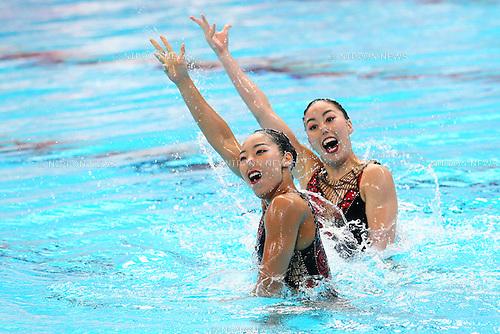 Yukiko Inui &amp; Risako Mitsui (JPN), <br /> JULY 28, 2015 - Synchronised Swimming :<br /> 16th FINA World Championships Kazan 2015<br /> Duets Free Routine <br /> Preliminary <br /> at Kazan Arena in Kazan, Russia.<br /> (Photo by Yohei Osada/AFLO SPORT)