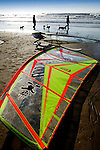 windsurfer, dog, walkers, compton bay, isle of Wight, England, UK, Photographs of the Isle of Wight by photographer Patrick Eden