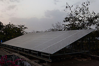 Solar panels on the roof of the Barefoot College in Tilonia village, Ajmer, Rajasthan, India on 1st April 2011. Photo by Suzanne Lee for Panos London