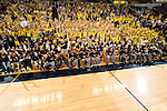 The University of Michigan men's basketball team watches the CBS Selection Sunday NCAA bracket announcements with fans and family at Crisler Aren in Ann Arbor, MI, on March 15, 2009.