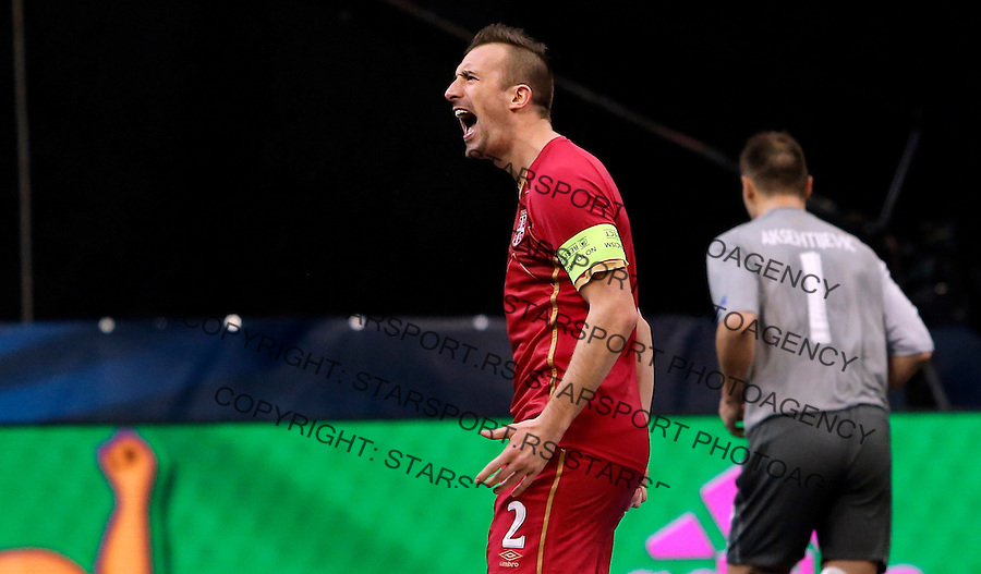 Marko Peric UEFA Euro 2016 Futsal Evropsko Prvenstvo, Srbija - Slovenija 2.2.1016. Februar 2. 2016. (credit image & photo: Pedja Milosavljevic / STARSPORT) total