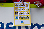 Doncaster Rovers Belles 1 Chelsea Ladies 4, 20/03/2016. Keepmoat Stadium, Womens FA Cup. An almost complete Doncaster Belles autograph sheet. Photo by Paul Thompson.