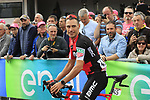 Manuel Quinziato (ITA) BMC Racing Team at sign on before Stage 2 of the 100th edition of the Giro d'Italia 2017, running 221km from Olbia to Tortoli, Sardinia, Italy. 6th May 2017.<br /> Picture: Eoin Clarke | Cyclefile<br /> <br /> <br /> All photos usage must carry mandatory copyright credit (&copy; Cyclefile | Eoin Clarke)