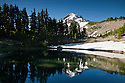 OR01692-00...OREGON - Dollar Lake reflecting Mount Hood and Barrett Spur in the Mount Hood Wilderness Area.