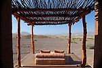 Africa, Namibia, Puros. Private verandah with view at Okahirongo Elephant Lodge.