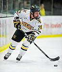 26 November 2010: University of Vermont Catamount forward Brett Leonard, a Senior from South Burlington, VT, in action against the Northeastern University Huskies at Gutterson Fieldhouse in Burlington, Vermont. The Huskies came back from a 2-0 deficit to earn a 2-2 tie against the Catamounts. Mandatory Credit: Ed Wolfstein Photo