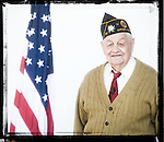 Veteran Leland Fox poses for a photo at a Veterans Day Program at the Oxford Conference Center in Oxford, Miss. on Thursday, November 11, 2010.