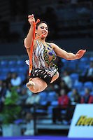 Julie Zetlin of USA performs with rope at 2010 World Cup at Portimao, Portugal on March 12, 2010.  (Photo by Tom Theobald).