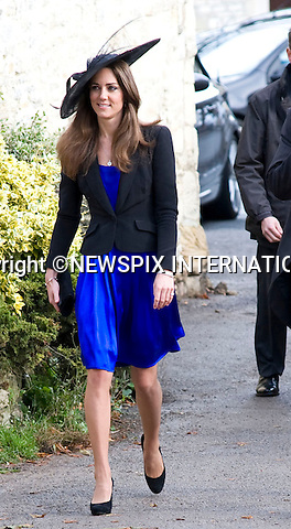 """PRINCE WILLIAM & KATE MIDDLETON.Attend the wedding of friends Harry Meade and Rosie Bradford at the Church of St Peter & St Paul, Northleach_Gloucestershire_23/10/2010.Mandatory Credit Photo: ©Carnall/NEWSPIX INTERNATIONAL..**ALL FEES PAYABLE TO: """"NEWSPIX INTERNATIONAL""""**..IMMEDIATE CONFIRMATION OF USAGE REQUIRED:.Newspix International, 31 Chinnery Hill, Bishop's Stortford, ENGLAND CM23 3PS.Tel:+441279 324672  ; Fax: +441279656877.Mobile:  07775681153.e-mail: info@newspixinternational.co.uk"""