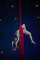 London, UK. 04.01.2014. Cirque du Soleil present QUIDAM at the Royal Albert Hall. Picture shows: Julie Cameron on Aerial SIlks. © Jane Hobson.