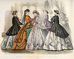 Vintage Illustration: Godey's Fashion magazine March 1866