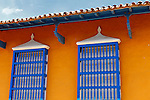 Central America, Cuba, Trinidad. Windows of Trinidad, Cuba.