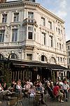 Cafe near the Grot Markt, Main Square, Antwerp, Belgium, Europe