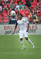 29 June 2013: Real Salt Lake midfielder/defender Lovel Palmer #7 in action during an MLS game between Real Salt Lake and Toronto FC at BMO Field in Toronto, Ontario Canada.<br /> Real Salt Lake won 1-0.