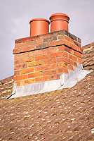 Chimney on Roof of House - Apr 2014.