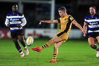 Billy Searle of Bristol United puts boot to ball. Aviva A-League match, between Bath United and Bristol United on September 19, 2016 at the Recreation Ground in Bath, England. Photo by: Patrick Khachfe / Onside Images
