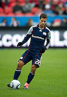 22 October 2011: New England Revolution midfielder Benny Feilhaber #22 in action during a game between the New England Revolution and Toronto FC at BMO Field in Toronto..The game ended in a 2-2 draw.