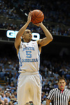30 January 2016: North Carolina's Marcus Paige. The University of North Carolina Tar Heels hosted the Boston College Eagles at the Dean E. Smith Center in Chapel Hill, North Carolina in a 2015-16 NCAA Division I Men's Basketball game. UNC won the game 89-62.