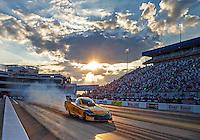Sep 16, 2016; Concord, NC, USA; NHRA funny car driver Del Worsham during qualifying for the Carolina Nationals at zMax Dragway. Mandatory Credit: Mark J. Rebilas-USA TODAY Sports