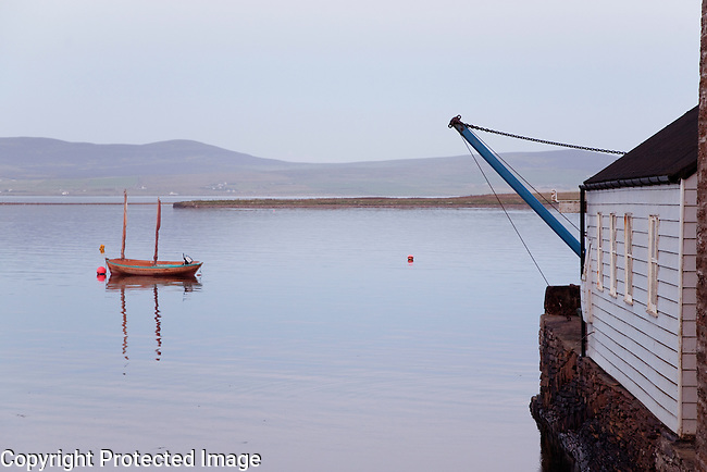 Boat on the Sea off Stromness in the Orkney Islands, Scotland
