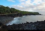 Puna Coast at Dawn, Aa Lava, Big Island of Hawaii