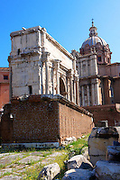 The Rostra with the arch of Septmius Severus behind (203) The Forum, Rome