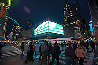 The Port Authority Bus Terminal at West 42nd Street and Eighth Ave. in New York is seen on on Thursday, November 24, 2011. The Port Authority has installed a large led billboard showing advertising much to the annoyance to some of its residential neighbors. (© Richard B. Levine)