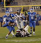 Kentucky Wildcats wide receiver Daryl Collins (23) runs the ball during the second half of the UK Football game v. Samford at Commonwealth Stadium in Lexington, Ky., on Saturday, November 17, 2012. Photo by Genevieve Adams | Staff