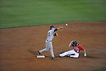 Ole Miss' Auston Bousfield (9) is forced out at second vs. Murray State at Oxford-University Stadium in Oxford, Miss. on Wednesday, May 2, 2012.