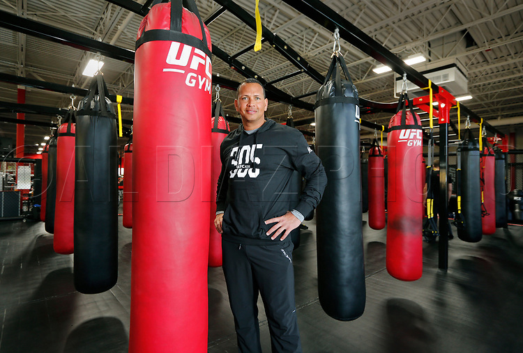 Alex Rodriguez at UFC Gym in West Kendall  on Thursday, March 16, 2017.