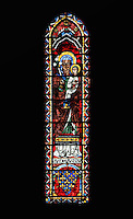 St. Anne holding her child, lancet window, North Rose window, circa 1230, Chartres Cathedral, Eure et Loir, France. Picture by Manuel Cohen