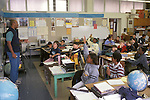 Berkeley CA 5th grade teacher engaging students in lively discussion in class