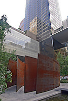 Museum of Modern Art, Museum of Modern Art Tower designed by Cesar Pelli & Associates [1985], New York City, New York, sculpture by Richard Serra