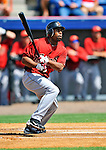 7 March 2011: Houston Astros' outfielder Michael Bourn in action during a Spring Training game against the Washington Nationals at Space Coast Stadium in Viera, Florida. The Nationals defeated the Astros 14-9 in Grapefruit League action. Mandatory Credit: Ed Wolfstein Photo