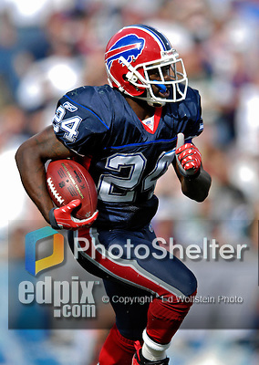 30 September 2007: Buffalo Bills cornerback Terrence McGee in action against the New York Jets at Ralph Wilson Stadium in Orchard Park, NY. The Bills defeated the Jets 17-14 for their first win of the 2007 season...Mandatory Photo Credit: Ed Wolfstein Photo