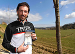 Monte Santa Maria gravel sector dedicated to 3 time winner Fabian Cancellara today also received the keys to the city of Asciano, Asciano, Tuscany, Italy 3rd March 2017.<br /> Picture: LaPresse | Newsfile<br /> <br /> <br /> All photos usage must carry mandatory copyright credit (&copy; Newsfile | LaPresse)
